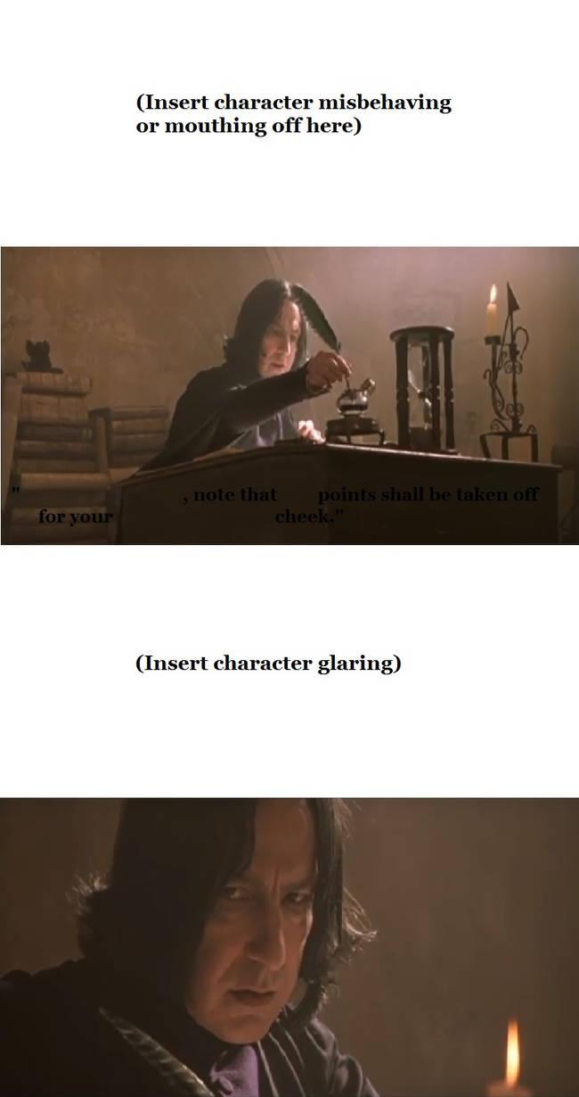 Severus Snape takes away points base