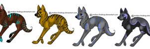 Semi-Sparkle Adoptable Wolves