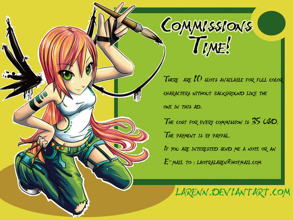 ..::Comissions time::.. by larenn