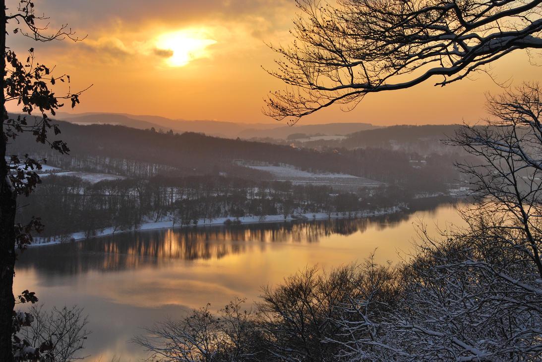Stock 49 Lake Winter by monarxy-stocks
