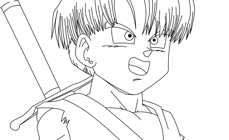 Trunks Line Art By Say4 On Deviantart