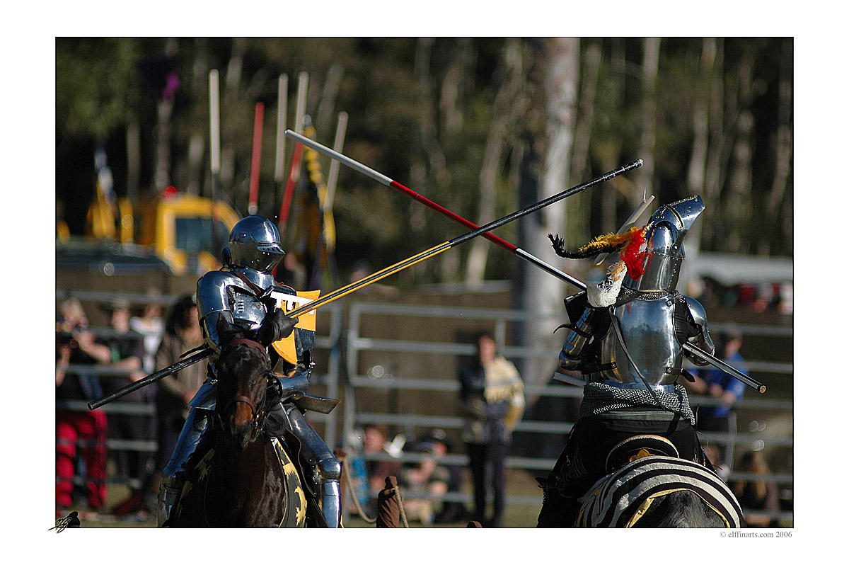 the dangers of jousting by MarkGreenmantle