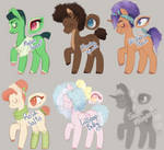 OPEN    Pony Adopts 5/6 by CucuJayAdopts