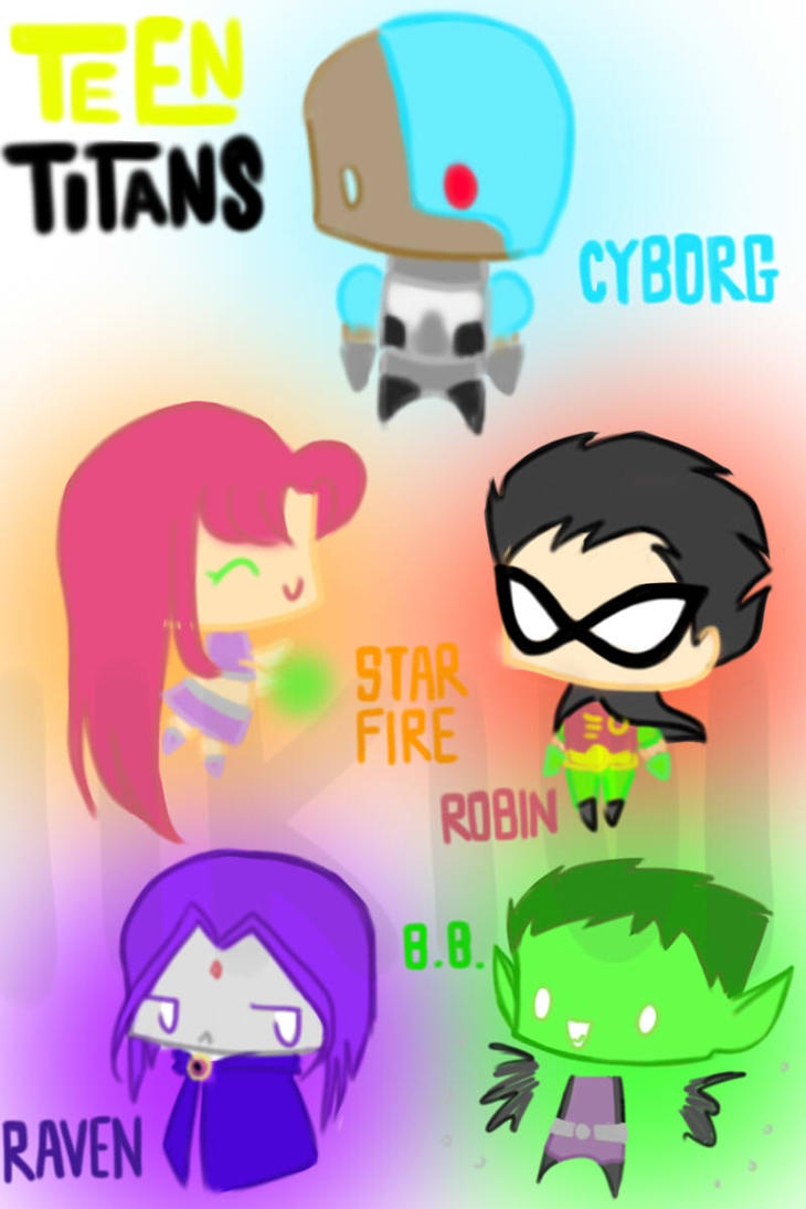 Teen Titans Chibi by i...