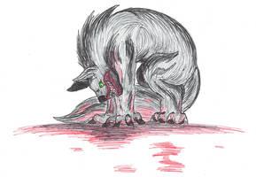 Inktober 20 - Hollow Moon Bad Wolf