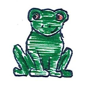 Inktober 26 - Frog by GlyphGryphon