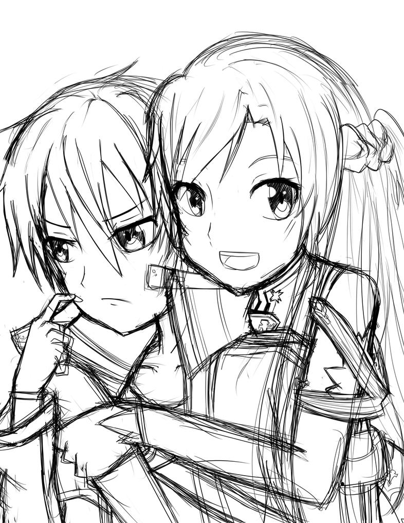 Sword art online rough sketch by xxvampireangel78xx on for Sketch it online
