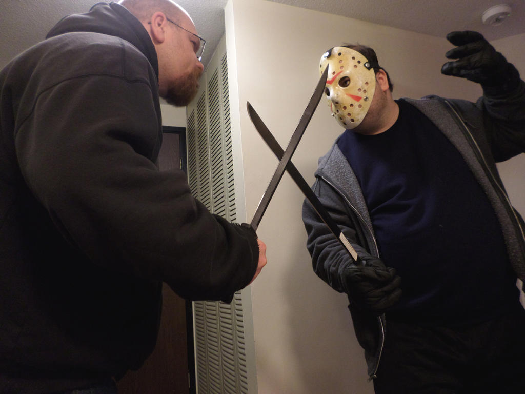 Playing With Real Machetes by MLBlue