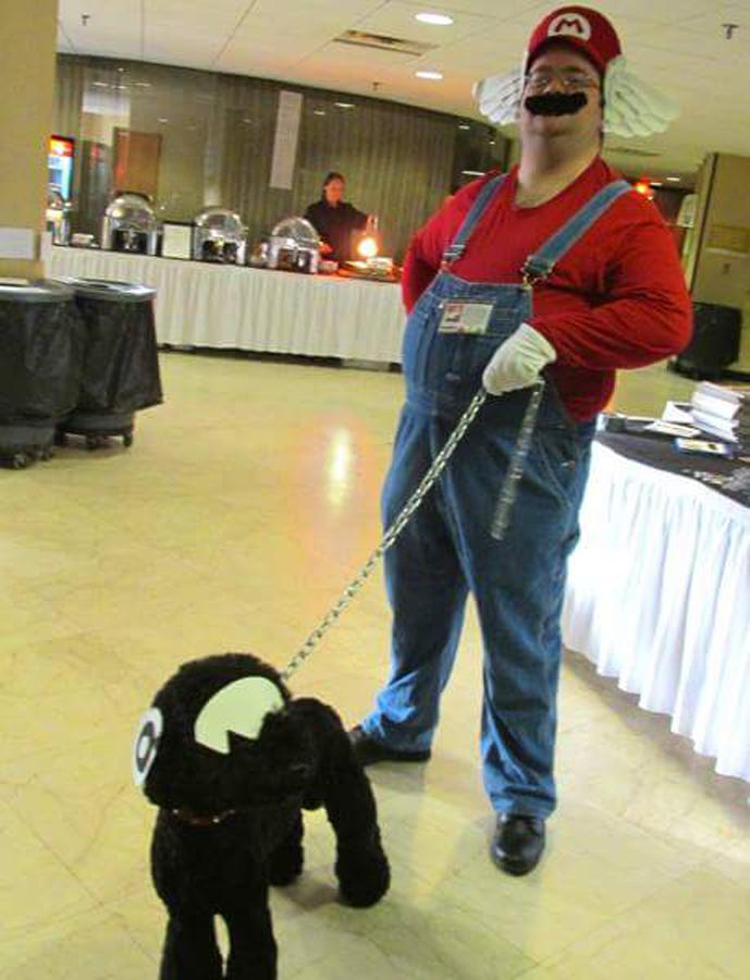 Mario Chain Chomp Dog by MLBlue