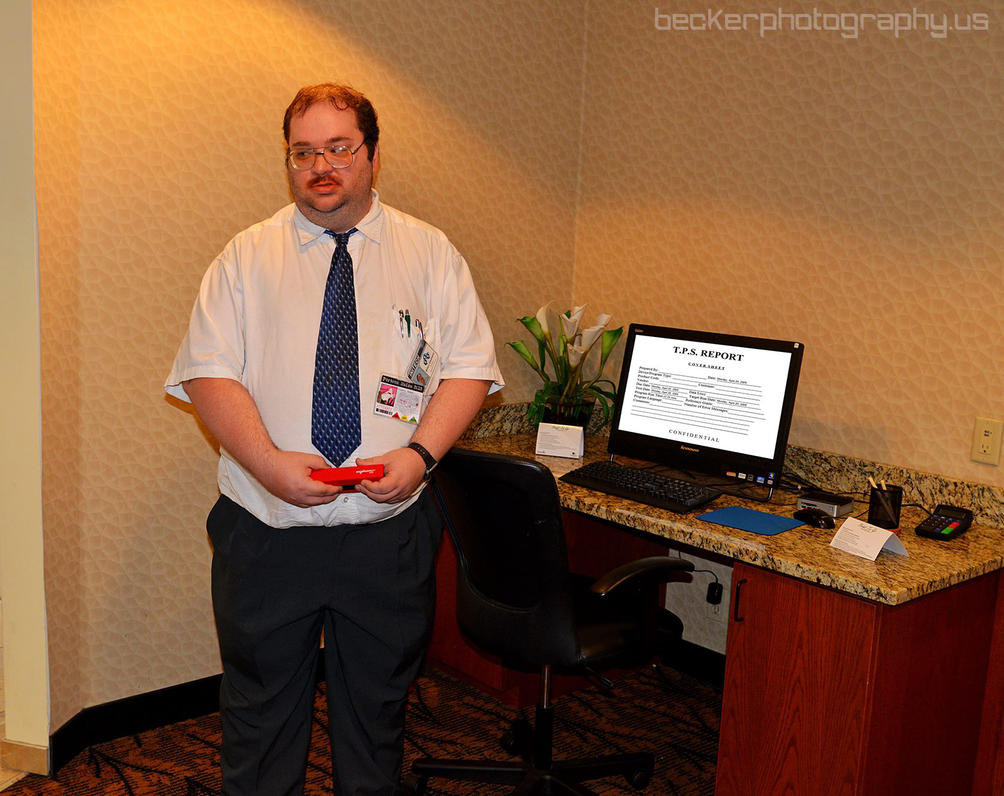 Milton at Computer Desk by MLBlue