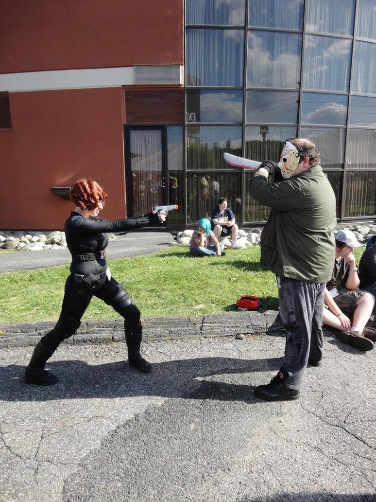Jason vs. Black Widow by MLBlue