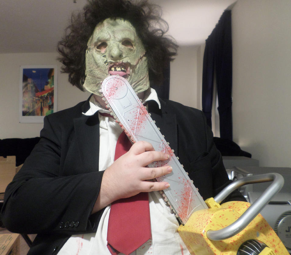 Leatherface Enjoys His Work by MLBlue