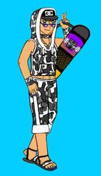 Camo Girl Skateboard 2