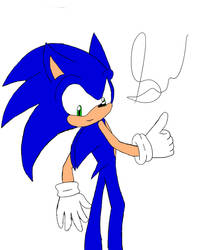 Sonic redraw from 2010 by SonicProBoom101