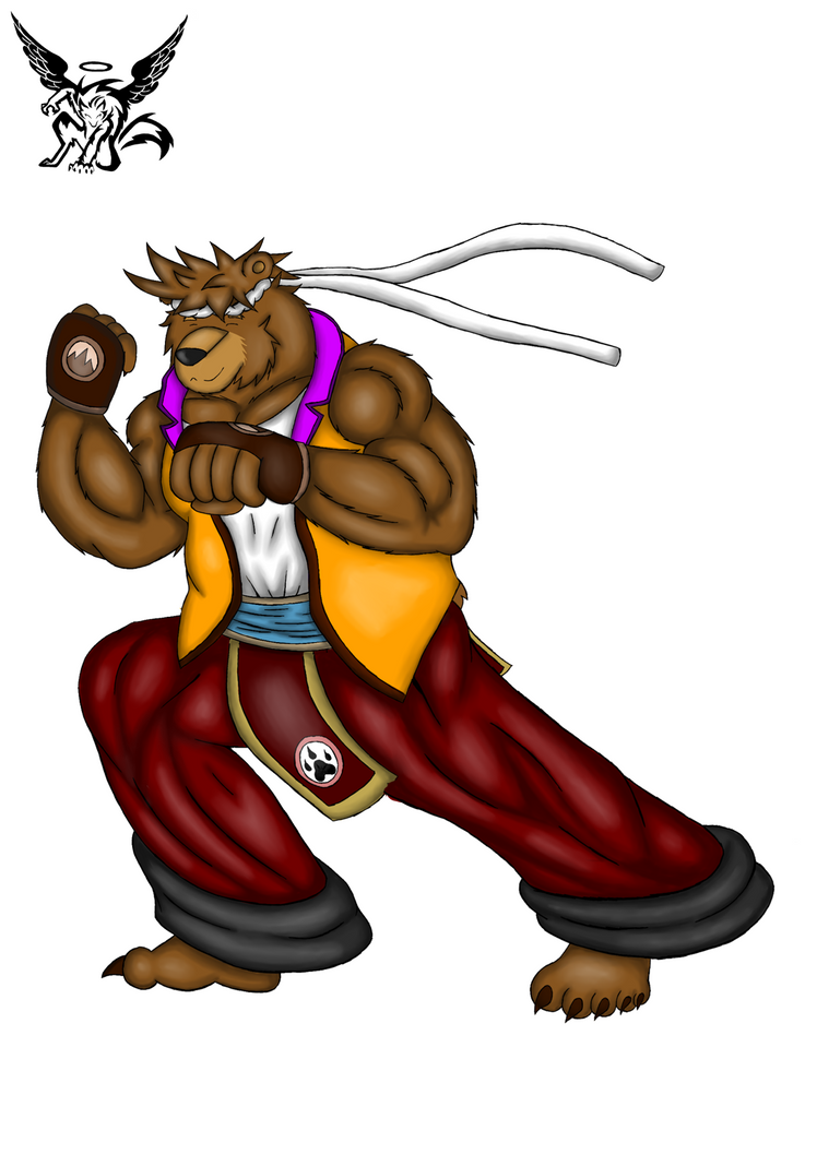 Dylan the monk bear by Lickan-Nicol