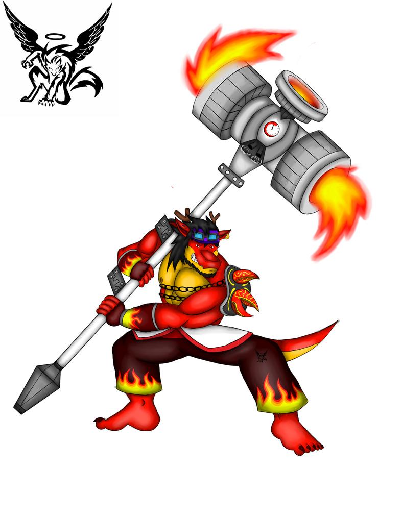 Raul the dragon Warior by Lickan-Nicol