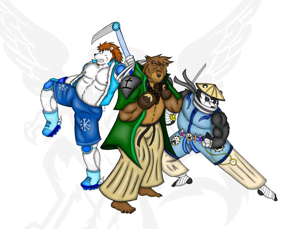Trio Bears fighter by Lickan-Nicol