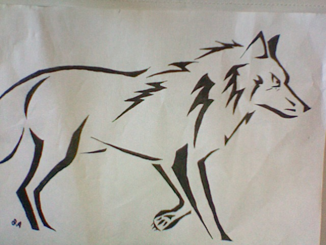 the gallery for gt cool easy drawings of wolves