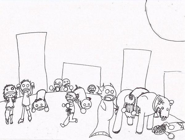Zombie Line Art : Zombie line art by ericborowski on deviantart