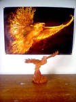 My Phoenix statue with poster by SCARFACEPHOENIX