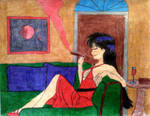 rei hino: relaxing in style by SCARFACEPHOENIX