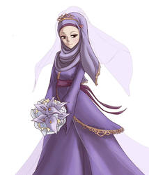 Hijab wedding dress by Zanielart