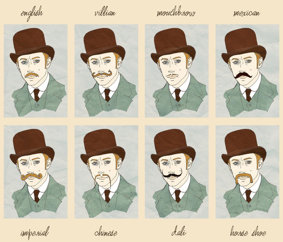 Types of moustache by MigraineSky