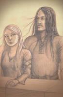 Eowyn and Faramir by MigraineSky
