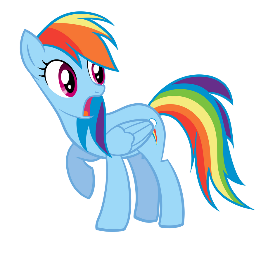Rainbow Dash Crying Vector Surprised rainbow dash by