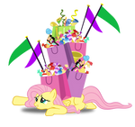 Over encumbered Fluttershy