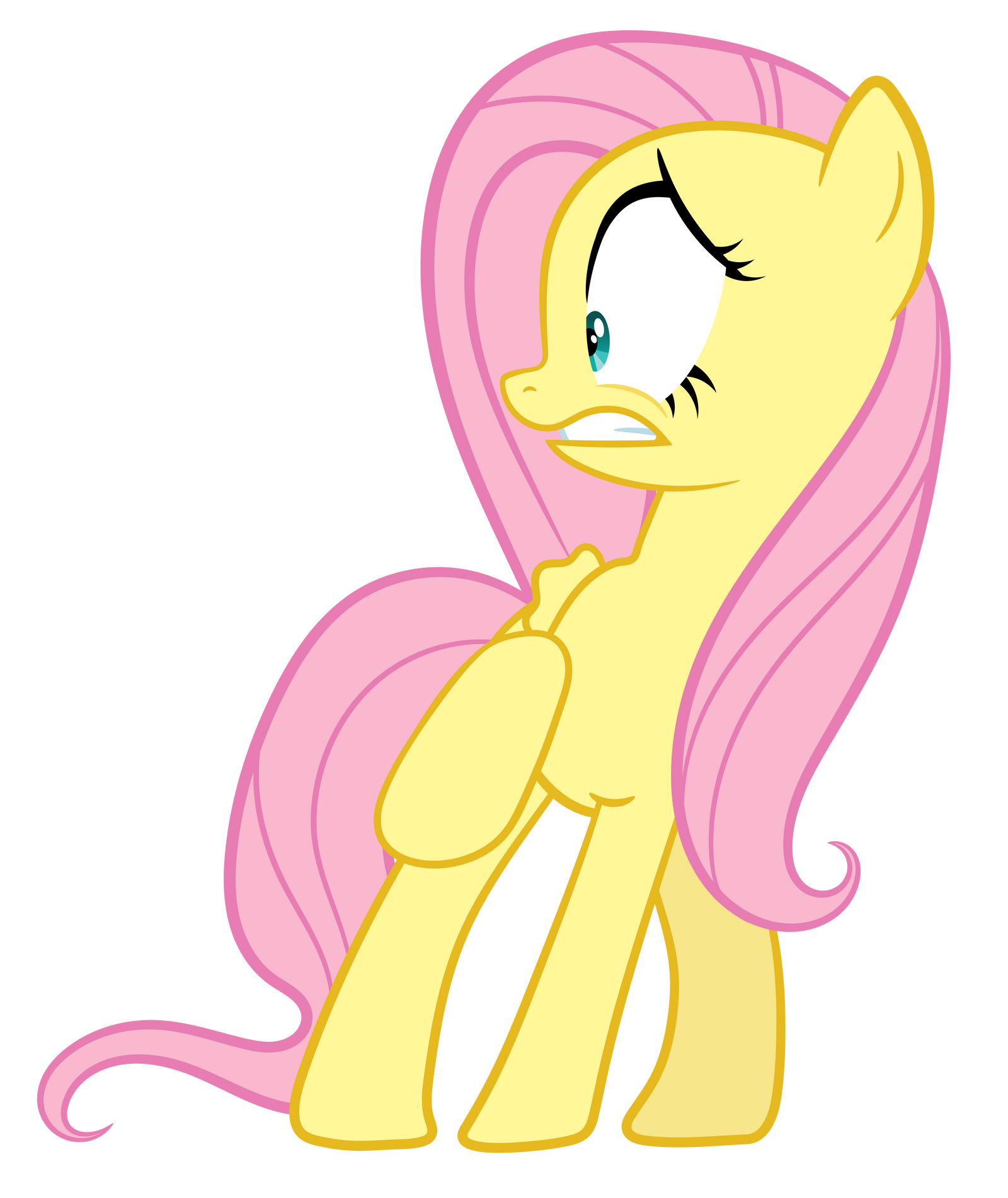 Scared Fluttershy by Proenix on DeviantArt