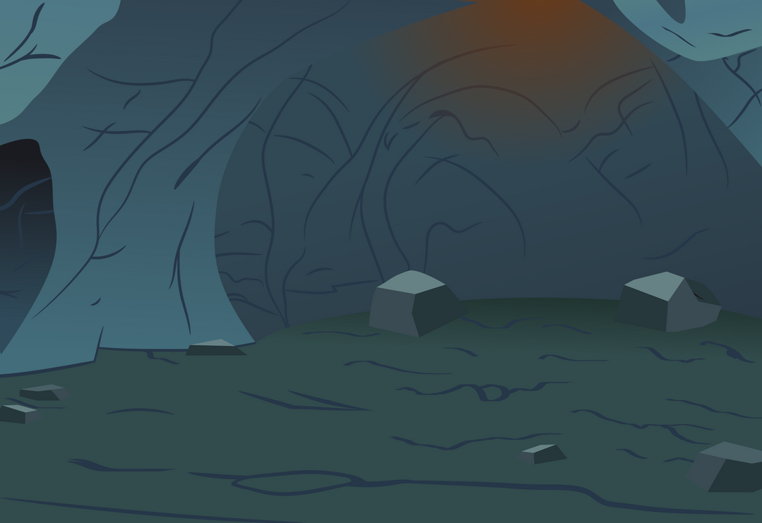how to draw a cave background