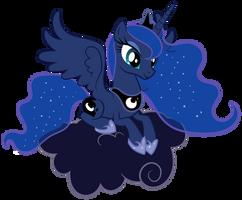Luna on the cloud #1 by Proenix