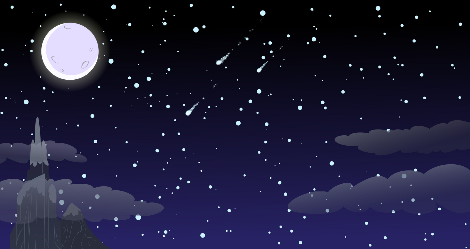 cartoon night vector wallpaper - photo #13