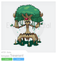 v-709 Vengalan Trevenant by EventHorizontal