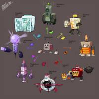Fakemon Brainstorm #6 I NEED ENERGY. by EventHorizontal