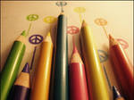 peace love and colored pencils