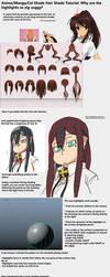 [Anime/Manga]Shading: How to Handle Hair Tutorial by SilverHD2