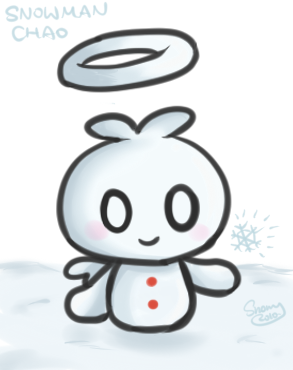 :doodle: Snowman Chao by sunowi0421
