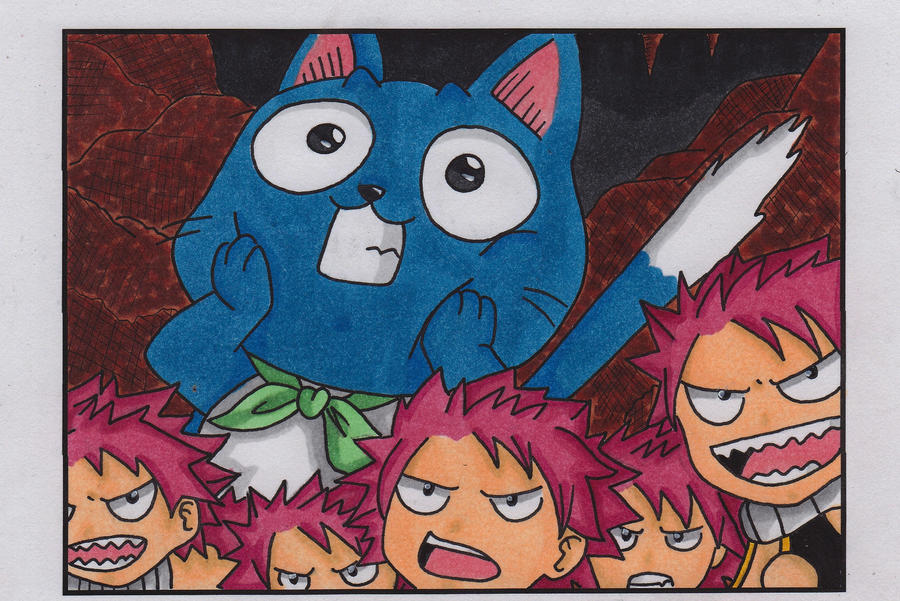 Fairy Tail -Happy and Chibi Natsus- by EternASH on DeviantArt  Fairy Tail -Hap...