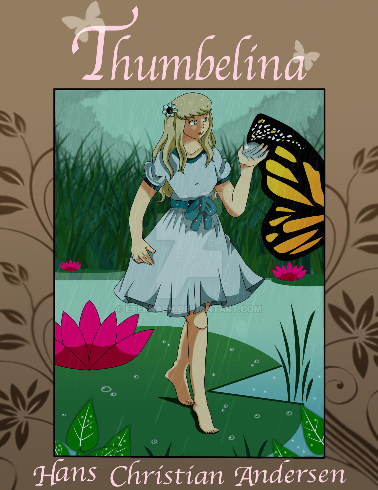 Children S Book Covers Art : Graphic design children s book cover thumbelina by