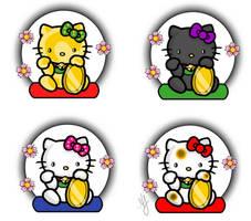 Maneki Kitty Tattoo Flash by DiruLiCiouS