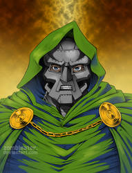 Dr Doom close colors