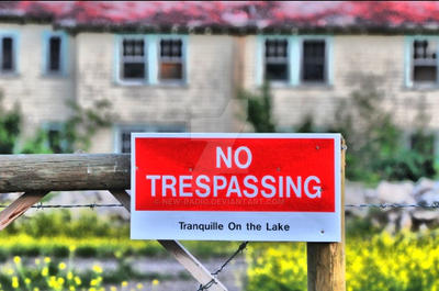 No trespassing by new-radio