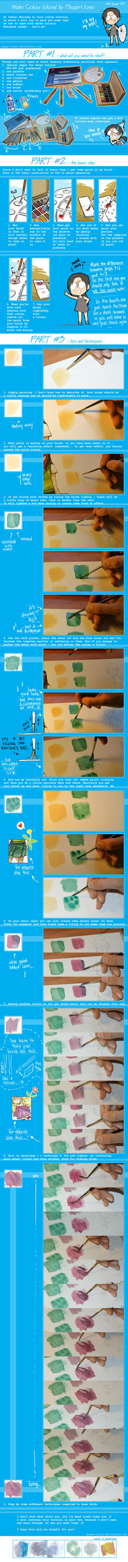 Water Colour Tutorial - Part 1 by Megan-Uosiu