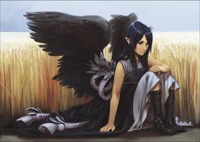..::Angel in the wheat::.. by Megan-Uosiu