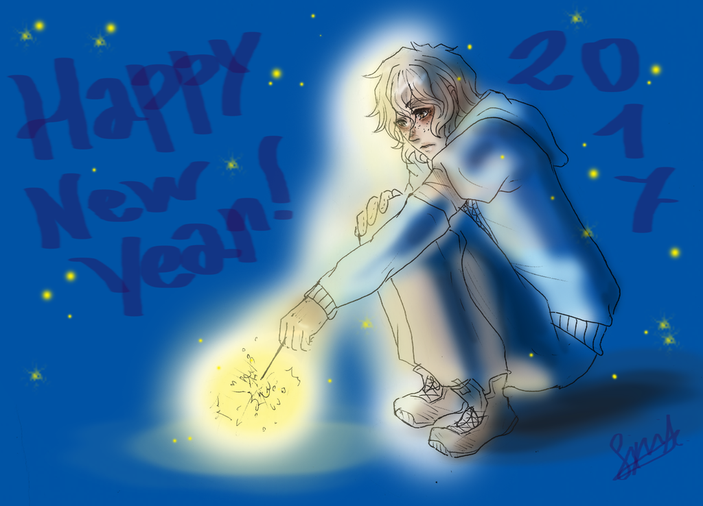 Happy New Year - CREEPYPASTA Art by goldenhysteria