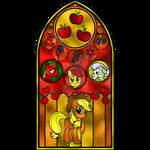 Applejack Stained Glass Window
