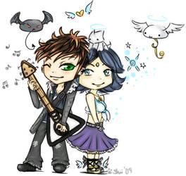 Jpak's couple art commission by wanpoo