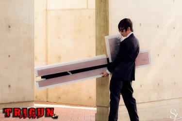 Trigun: Nicholas D. Wolfwood Cross Punisher by RaikouCos